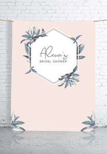 pastel-pink-and-leaves-bridal-shower-backdrop
