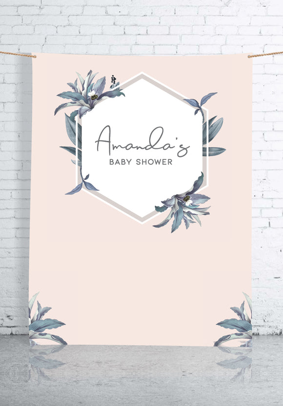 pastel-pink-and-leaves-baby-shower-backdrop