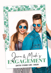 baby-eucalyptus-engagement-party-photo-booth-frame