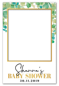 eucalyptus-baby-shower-photo-booth-frame