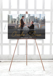 white-and-gold-photo-wedding-engagement-sign-landscape