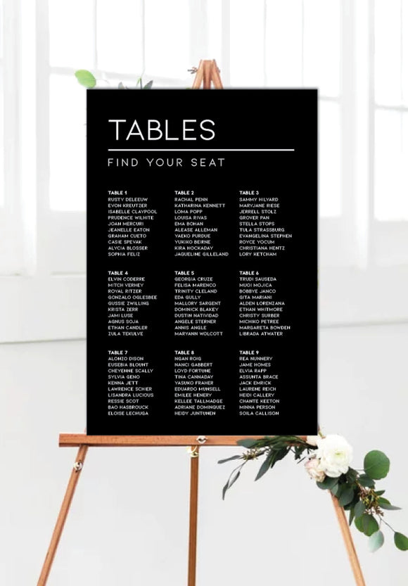 black-modern-wedding-seating-chart-portrait