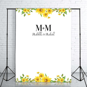 sunflower-engagement-backdrop