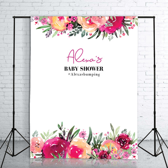 marsala-flowers-baby-shower-backdrop