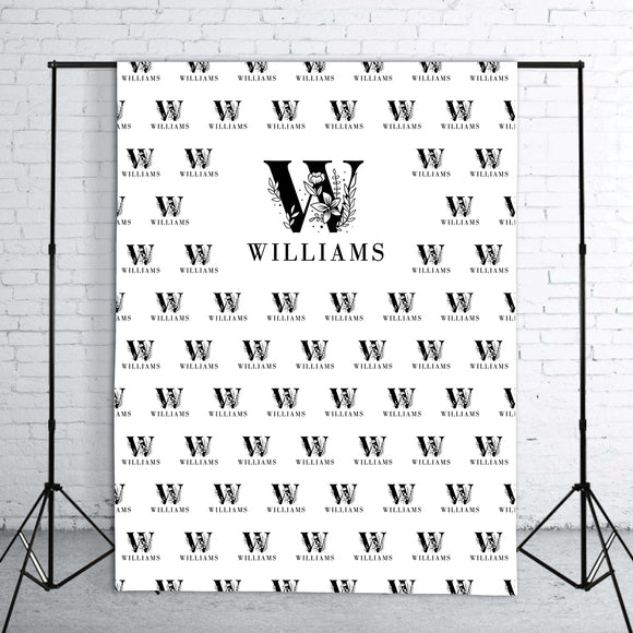 black-and-white-wedding-letter-logo-step-and-repeat-backdrop