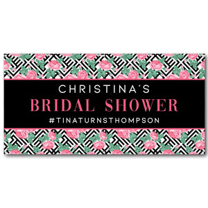 roses-geometric-stripes-personalised-bridal-shower-banner