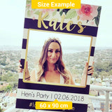 Luxury Birthday Photo Booth Frame Prop (60 x 90 cm) Corflute