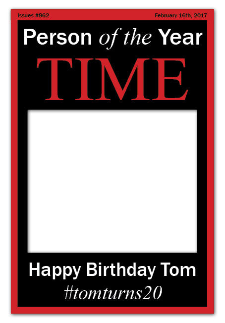 Time Magazine Photo Booth Frame - Black (60 x 90 cm)