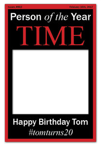 Time Magazine Photo Booth Frame - Black (80 x 110 cm)