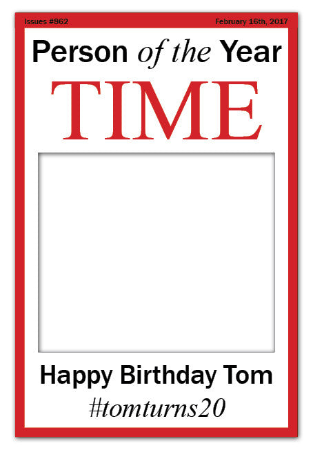 Time Magazine Photo Booth Frame - White (60 x 90 cm)