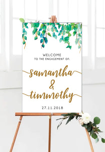 wild_leaves_engagement_party_welcome_sign_portrait