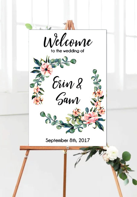 eucalyptus-flower-wreath-wedding-welcome-sign-portrait