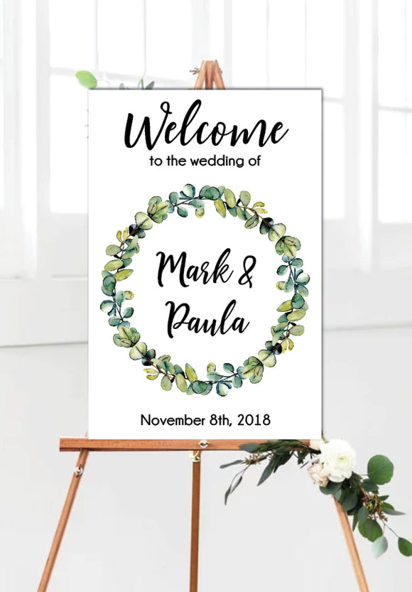eucalyptus-wreath-wedding-welcome-sign-portrait