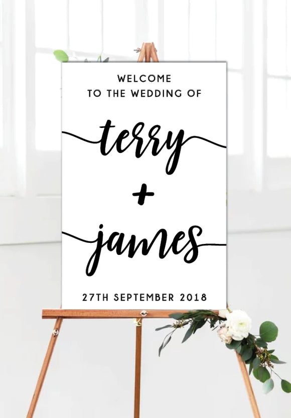 minimalist_wedding_welcome_sign_portrait