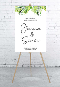 tropical-wedding-welcome-sign-portrait