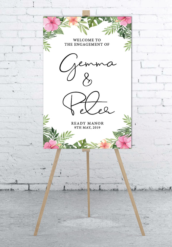pink-and-tropical-wedding-welcome-sign-portrait