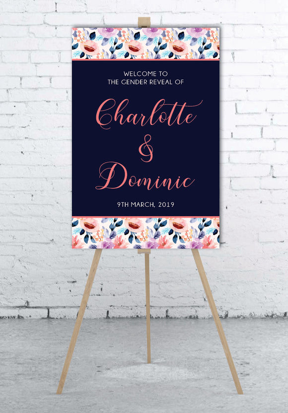 elegant-gender-reveal-welcome-sign