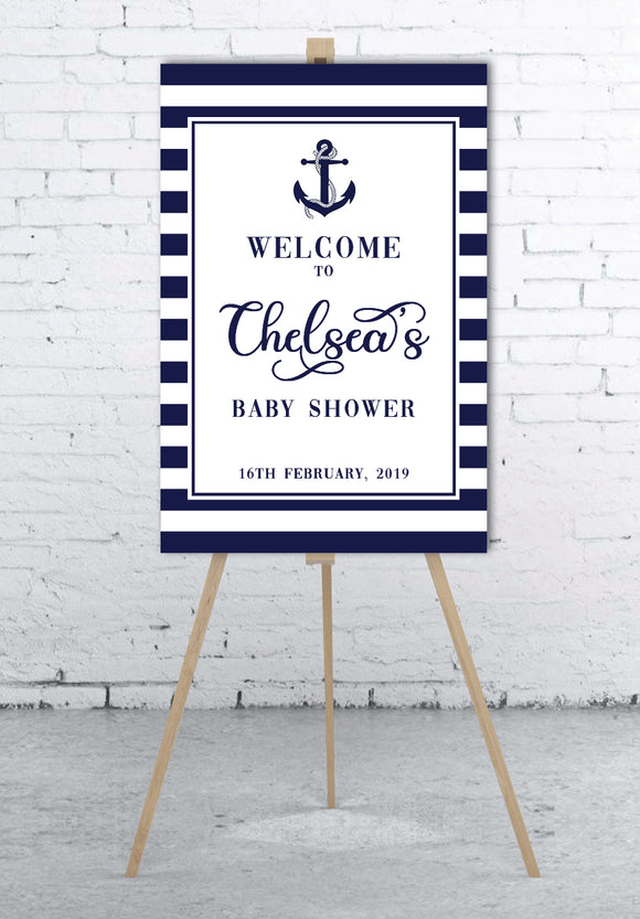 nautical-baby-shower-welcome-sign