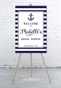 nautical-bridal-shower-welcome-sign