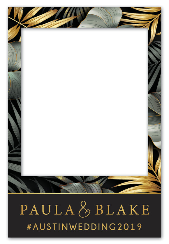 elegant-tropical-wedding-photo-booth-frame