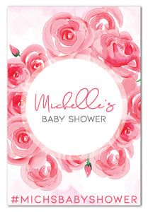 watercolour-roses-baby-shower-welcome-sign