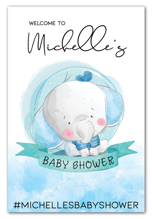 boy-elephant-baby-shower-welcome-sign
