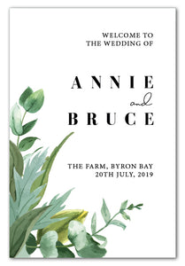 botanical-greenery-wedding-welcome-sign