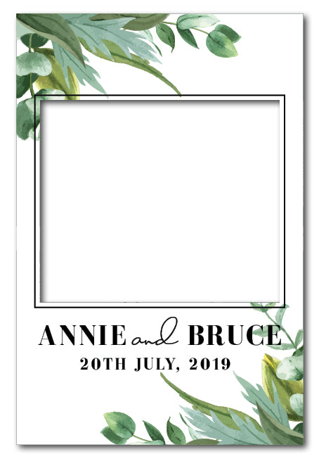 botanical-greenery-wedding-photo-booth-frame-prop