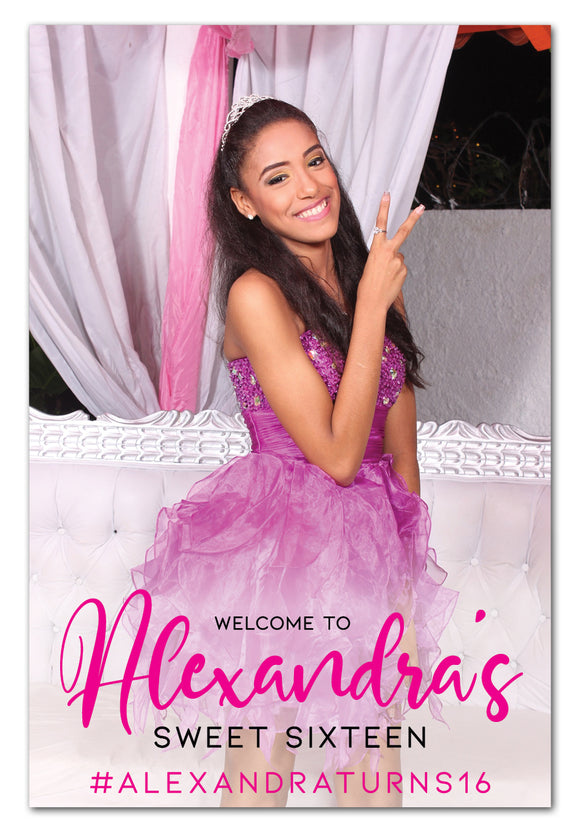 sweet-16-birthday-photo-welcome-sign