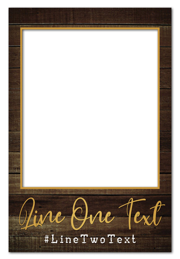 rustic-dark-wood-photo-booth-frame