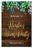 wild-leaves-and-dark-wood-rustic-bridal-shower-welcome-sign
