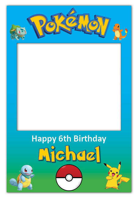 Pokemon Party Giant Photo Booth Prop 115 X 190 Cm Self Standing