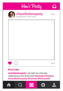 Hen's Party Instagram Frame Australia - Medium (60 x 90 cm)