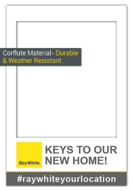 Ray White Custom Frame - Medium (60 x 90 cm) Corflute