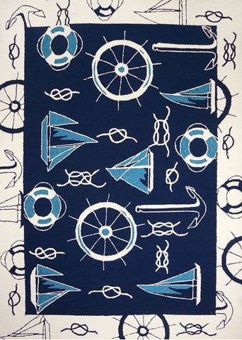 Nautical Outdoor Rug