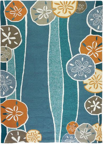 Beachcomber Coastal Outdoor Rug - By the Sea Beach Decor