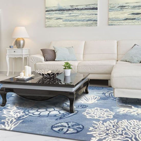 Oceania Coastal Area Rug - By the Sea Beach Decor
