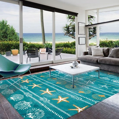 Calm Seas Coastal Rug - By the Sea Beach Decor