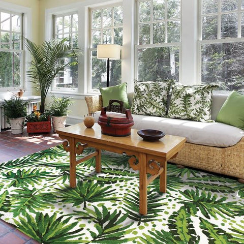 Palm Fronds Tropical Rug - By the Sea Beach Decor