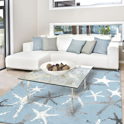 Tranquil Seas Coastal Rug - By the Sea Beach Decor