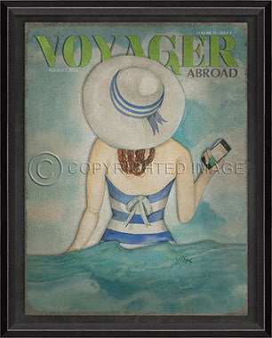 Voyager August 2013 Framed Art - By the Sea Beach Decor