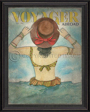 Voyager July 1989 Framed Art - By the Sea Beach Decor