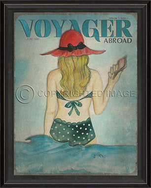 Voyager June 1990 Framed Art - By the Sea Beach Decor