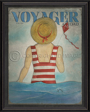Voyager June 1996 Framed Art - By the Sea Beach Decor