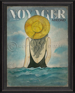 Voyager May 1989 Framed Art - By the Sea Beach Decor