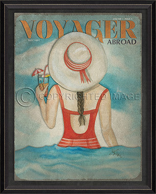 Voyager May 1991 Framed Art - By the Sea Beach Decor