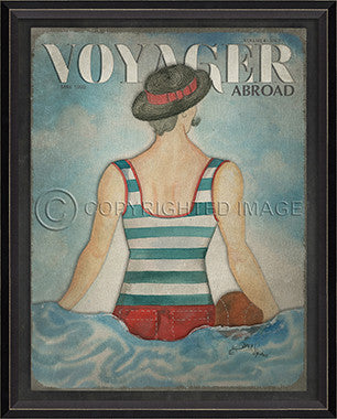 Voyager May 1992 Framed Art - By the Sea Beach Decor