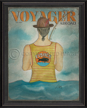 Voyager May 2000 Framed Art - By the Sea Beach Decor