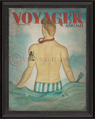 Voyager September 2006 Framed Art - By the Sea Beach Decor