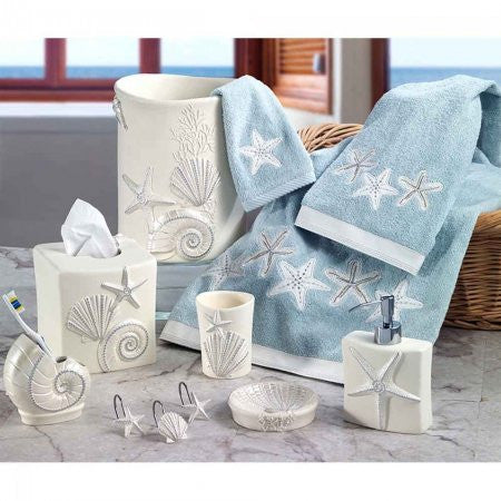 Sequin Shell Bath Accessories - By the Sea Beach Decor